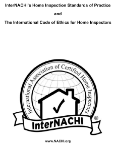 Home Inspection Standards of Practice and The International Code of Ethics for Home Inspectors